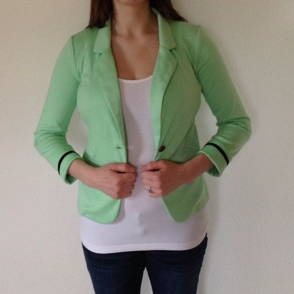 Mint Green Blazer A must-have! This adorable blazer is like new. Great paired with jeans. Size medium. J. Tomson Jackets & Coats Blazers