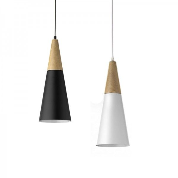 Timber pendant long drop pendant lights pinterest bedroom cute and small dual wood cone shaped pendant lights a mix of refined traditional and contemporary aesthetic made with aluminum and timber mozeypictures Image collections