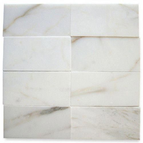 Italian Calacatta Gold Marble 3x6 Subway Tile Polished