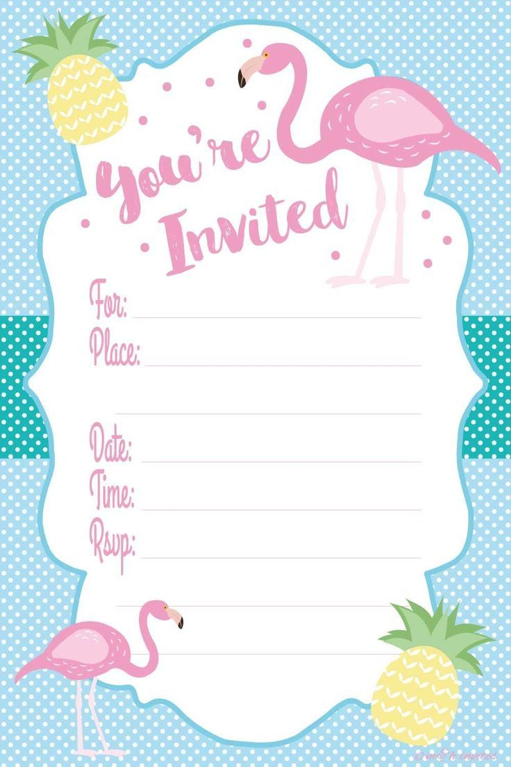 Image result for free Printable Pink Flamingo Invitations | Holidays ...