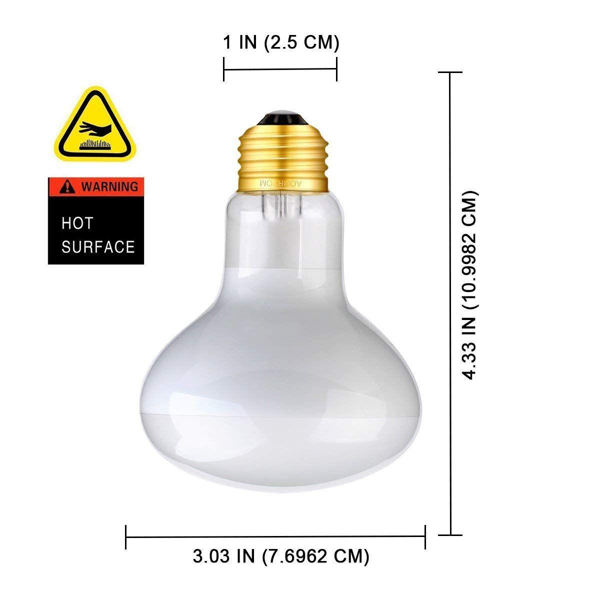 Aomryom 2 Pack 100w Uva Basking Spot Lamp Soft White Light Heat Bulb Reptiles Amphibians Use Ad Basking Affiliate Spot Lamp Uva