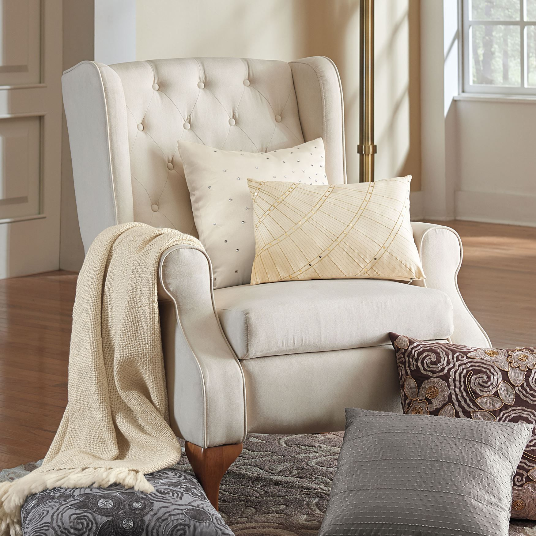 Sofa Queen Anne Style Queen Anne Style Tufted Wingback Recliner Plus Size Plus
