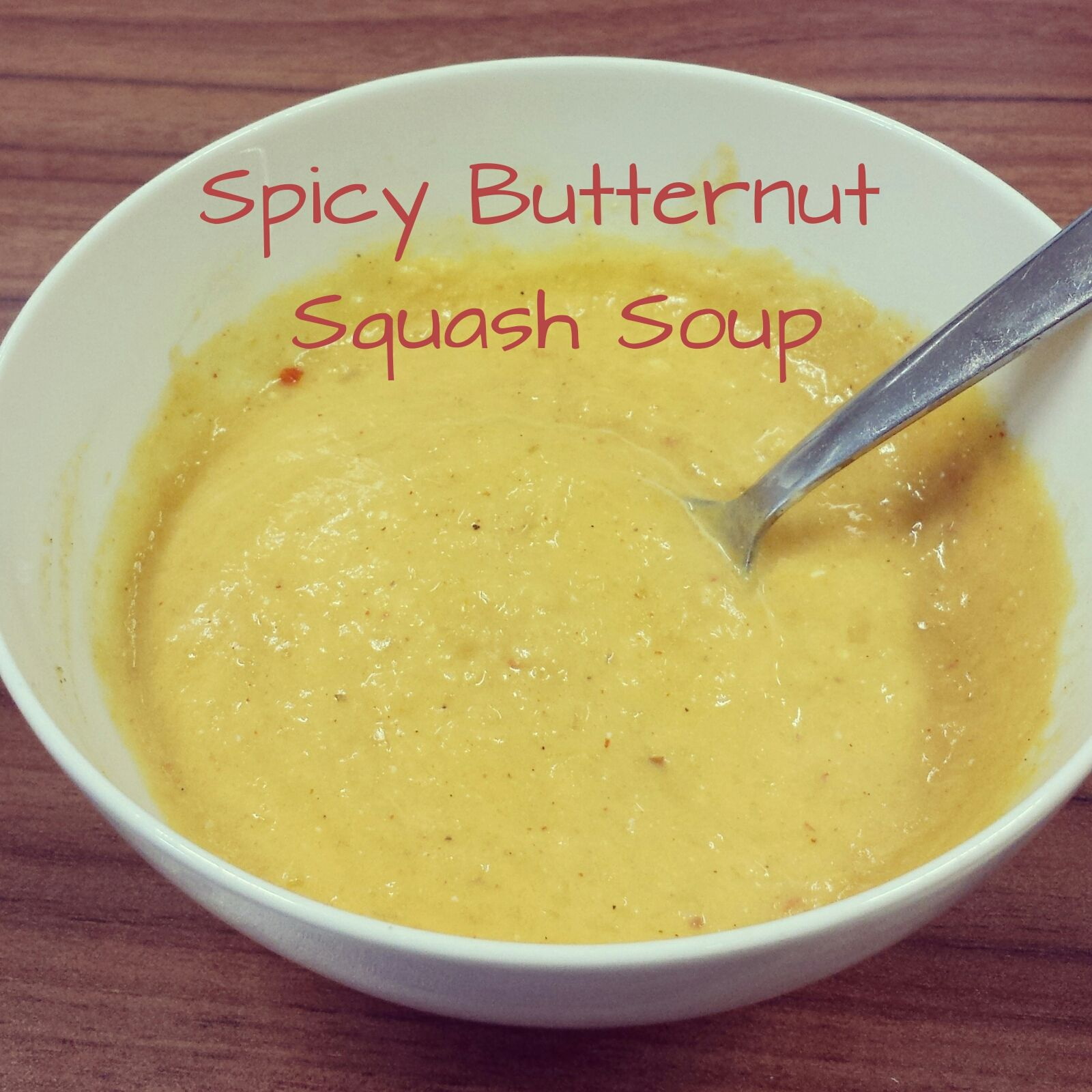 Spicy butternut squash soup from jenniestamp.com