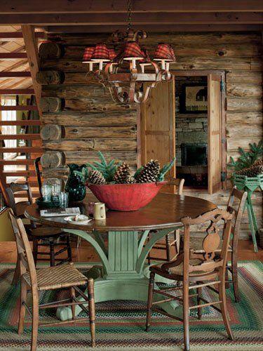 33 cute log cabin christmas decorations