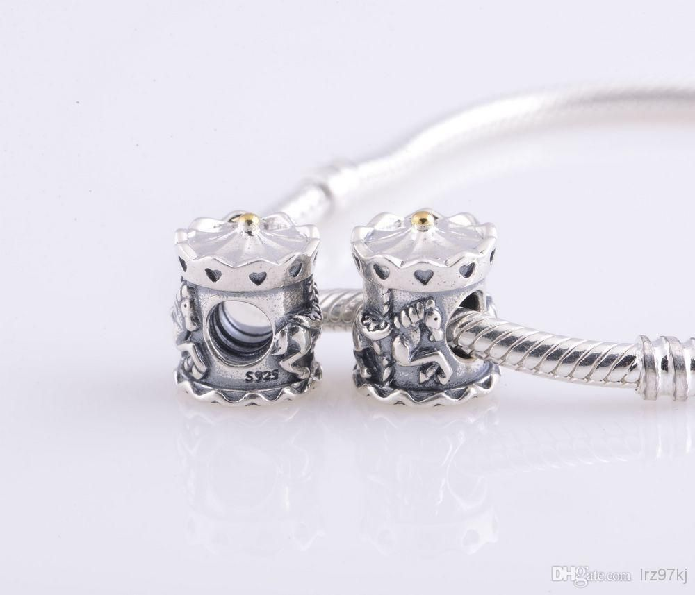 5be33921e Cheap Pandora Charms - Wholesale Ale Stamped Sterling Silver Screw Carousel  Charm Bead Online with $16.11/Piece | DHgate