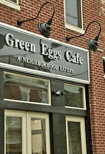 Green Eggs Cafe :: 719 N. 2nd Street, Northern Liberties, Philadelphia. Awesome brunch, fairly priced, great eclectic crowd.