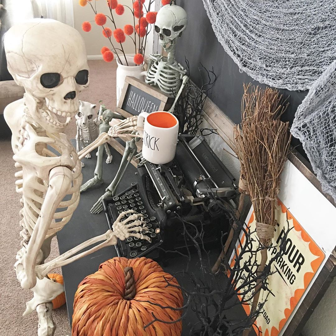 "Marissa on Instagram ""Mr. Bones is typing up another"