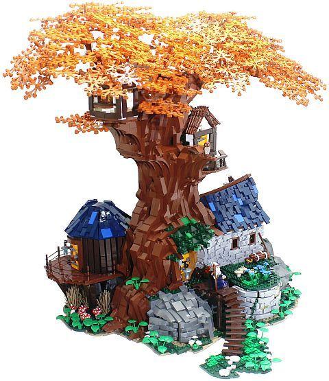 Custom Lego Tree Houses Tree House Sets Lego Tree Lego Tree House Lego Projects