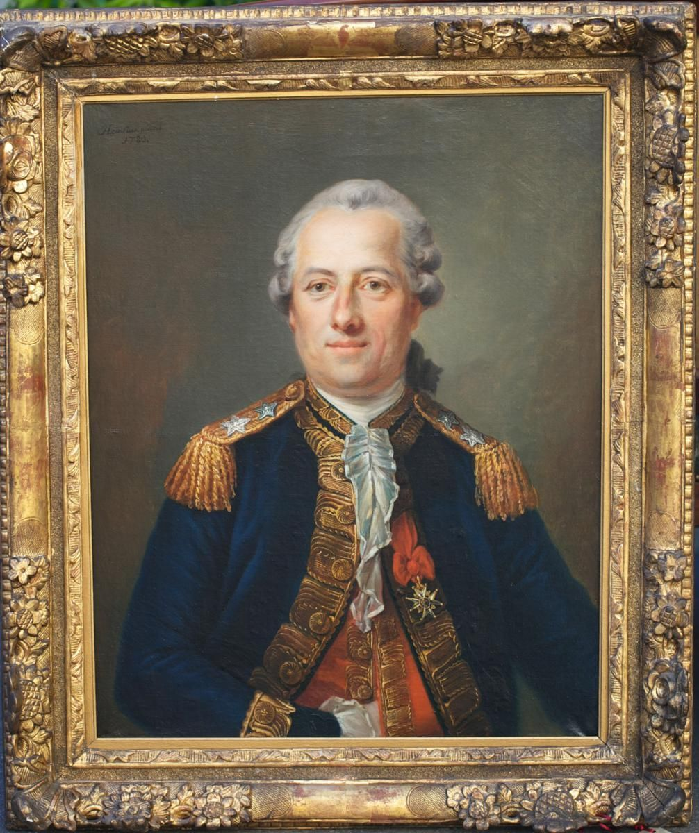 Portrait Of An Officer Oil On Canvas Signed Johan Heinrich Eenst Heinsius 1710 1812 And Dated 1780 Giltwood Vieux Portraits Portrait Hommes Portraits