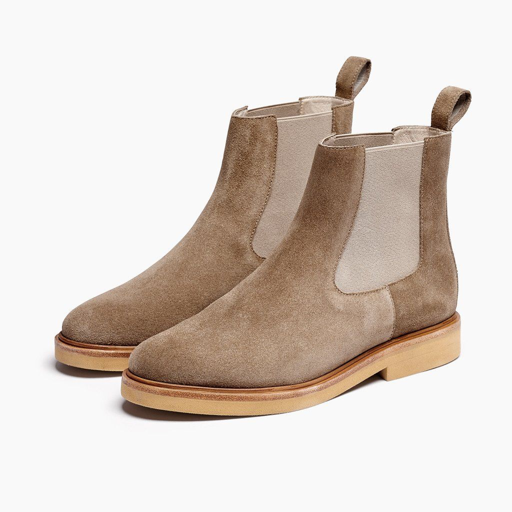 Women s Chelsea Boot StoneHobes Shoes Footwear Flats Boots Leather Suede  Color 67b465030913