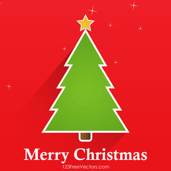 vector christmas tree greeting card design - Christmas Tree Card