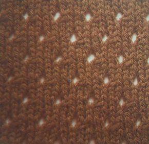 Einfaches Lochmuster Stricken Muster Stricken Lochmuster