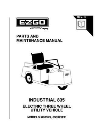 EZGO 2703887 2001 Parts and Maintenance Manual for Electric 3 Wheel Industrial Vehicle by EZGO. $68.50. Please search ezgo manuals to find a manual for another vehicle.. Provides detailed and thorough information for the service and maintenance of your vehicles. Used for 2001 electric powered 3 wheel utility vehicle. This Owner's Manual and Service Guide is for use with your E-Z-GO Electric Powered Utility Vehicle. Please search ezgo manuals to find a manual for ...