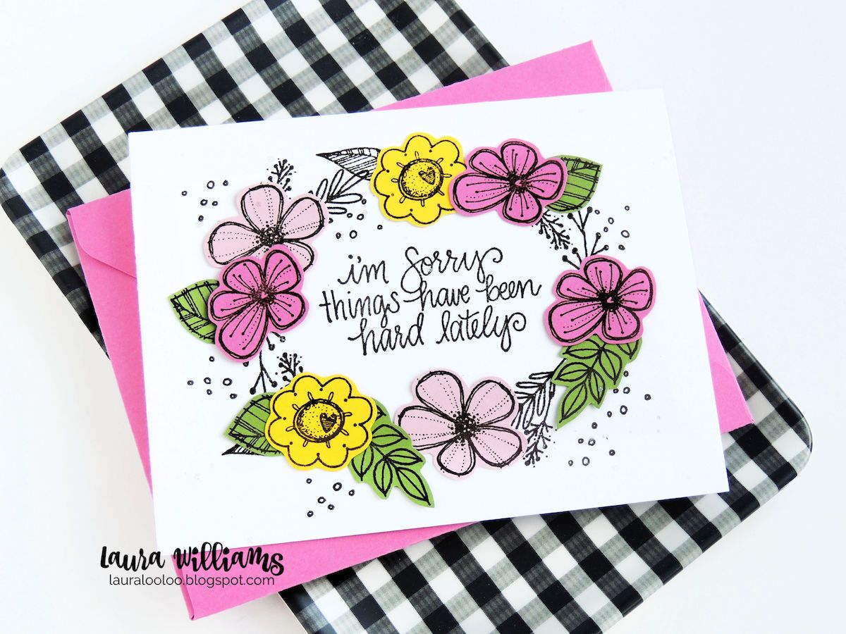 lauralooloo: Sweet Summer Blooms: Impression Obsession Challenge