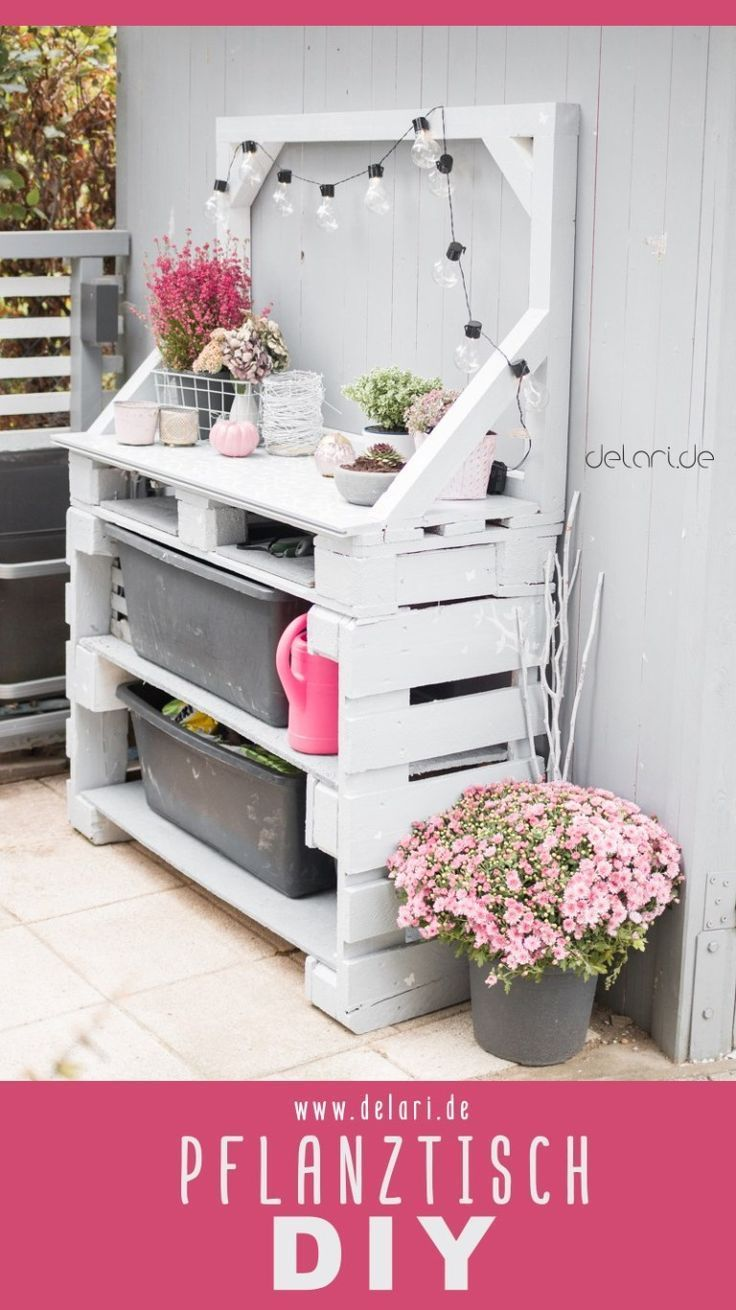 Pallets planting table DIY garden  delari  instructions #diygartenprojekte