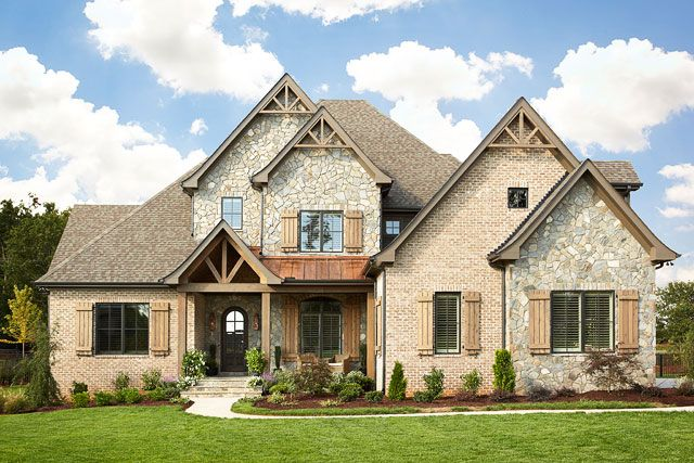 A look inside private residence in cobblestone - Stone brick exterior combinations ...