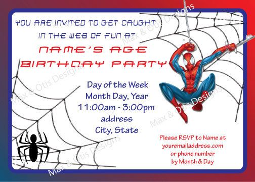 Spiderman printable birthday invitation custom by maxandotis 500 spiderman printable birthday invitation custom by maxandotis 500 filmwisefo