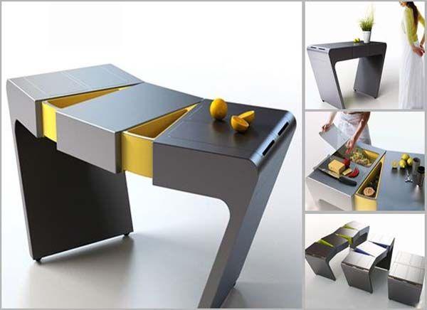 Accordion Folding Kitchen Table Modular Kitchen Table From Olga