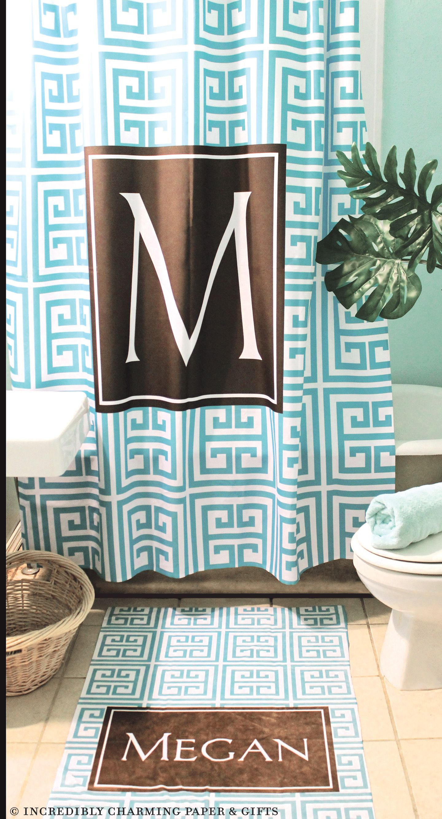 Perk up your bathroom with a personalized shower curtain. Tons of ...