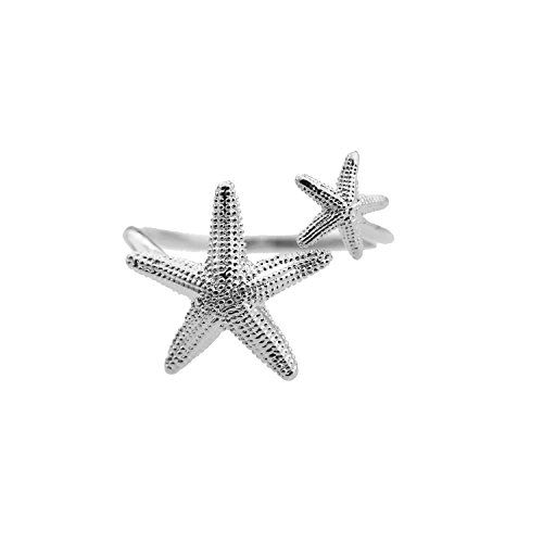 Adjustable Summer Fun Starfish Ring (silver-plated-base) jewelry ring-$9.99 http://www.amazon.com