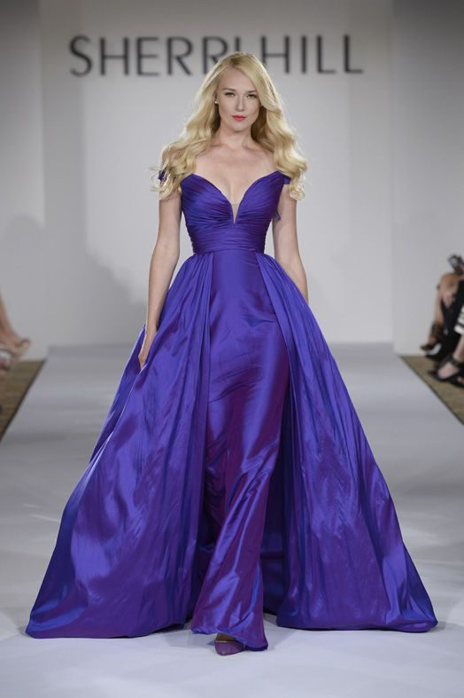 This royal purple taffeta Sherri Hill gown is fun and and has an ...