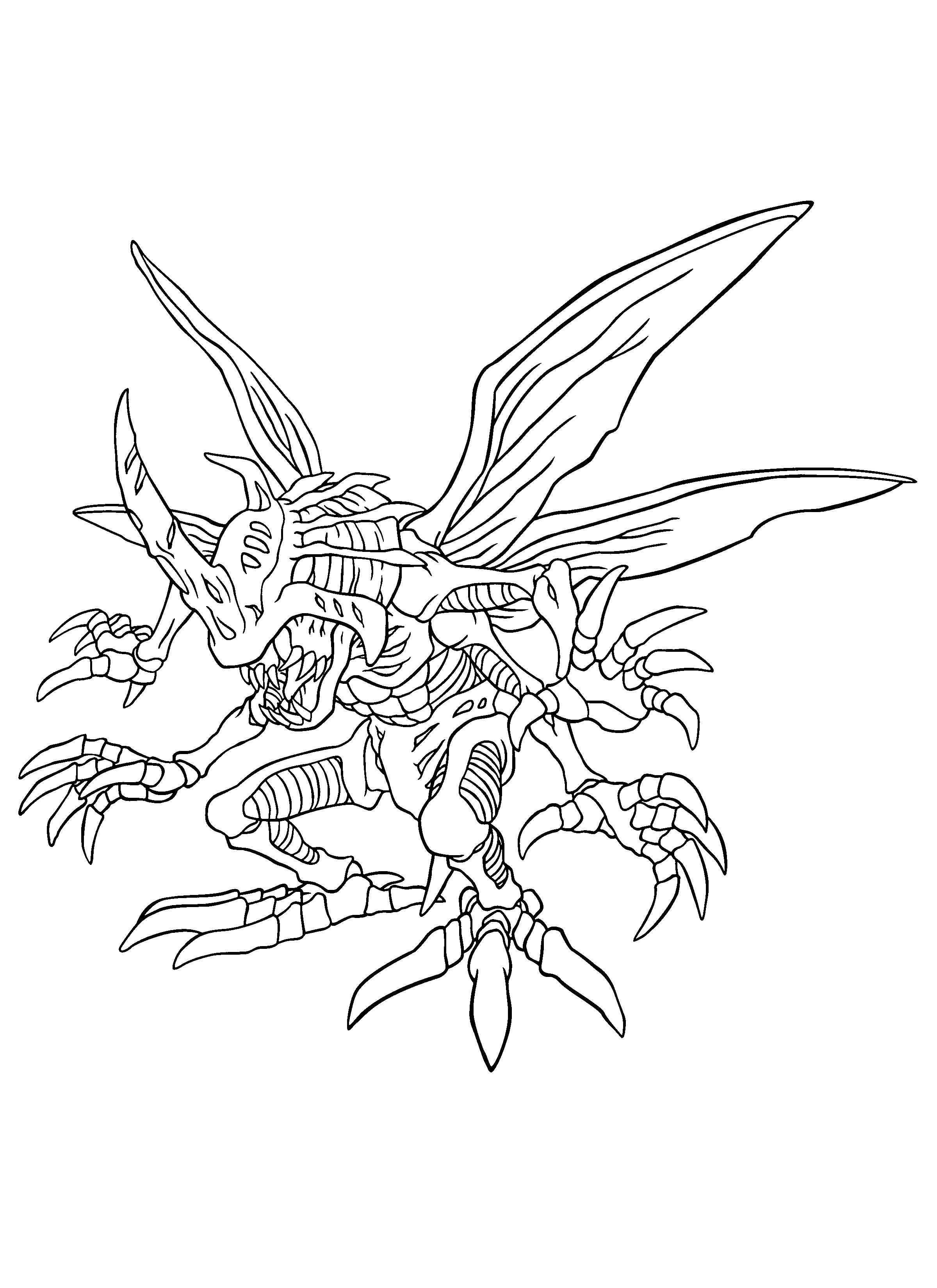 digimon-coloring-pages-259.png (2400×3300) | LineArt: Digimon ...