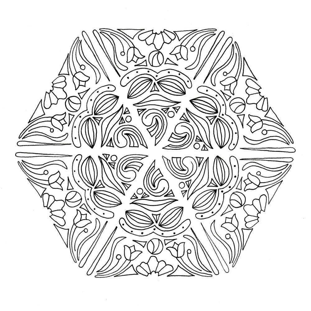 mandala magic coloring page coloring mandalas and