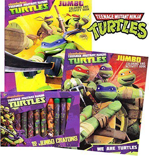 TMNT Teenage Mutant Ninja Turtles Coloring and Activity Book Set (2 ...
