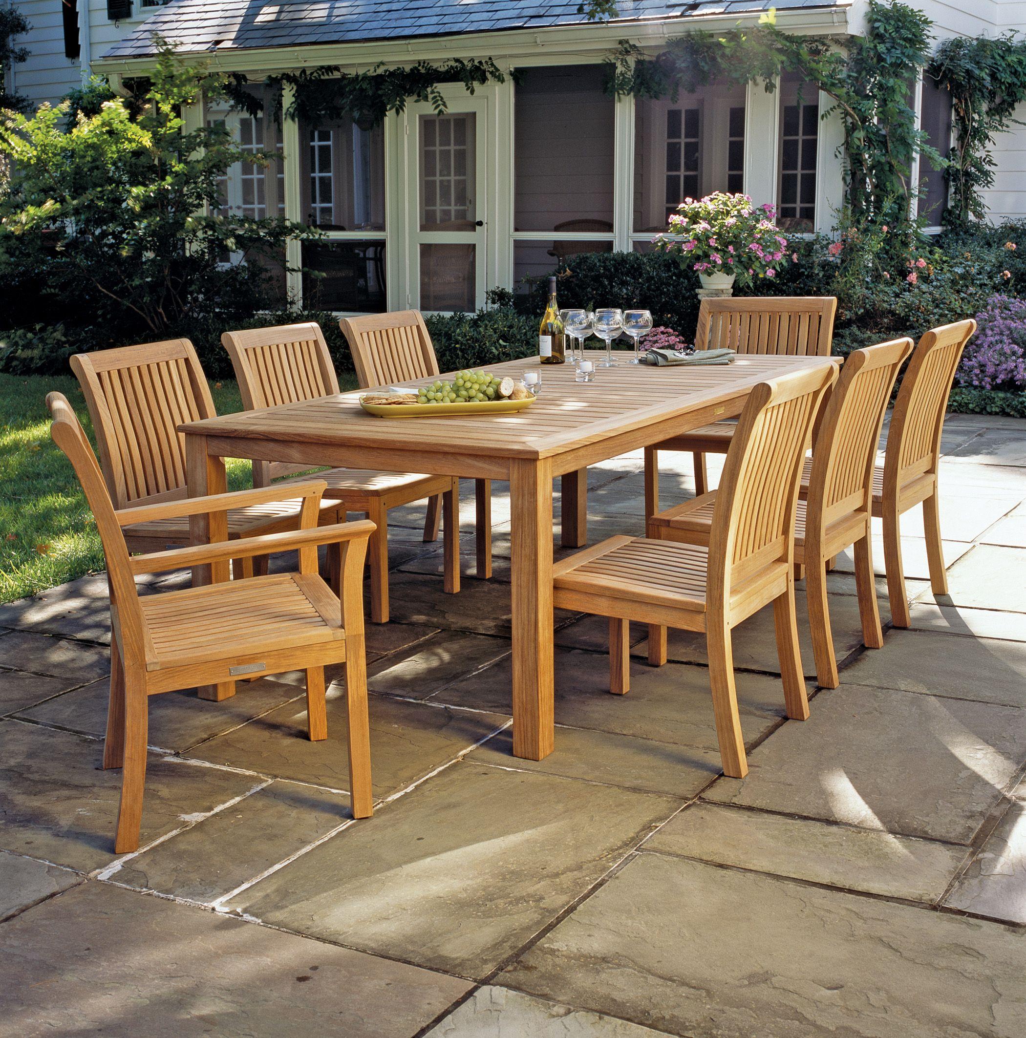 Kingsley Bate Chelsea Dining Set [Cheslea Chairs And Wainscott Table]   Teak  Furniture