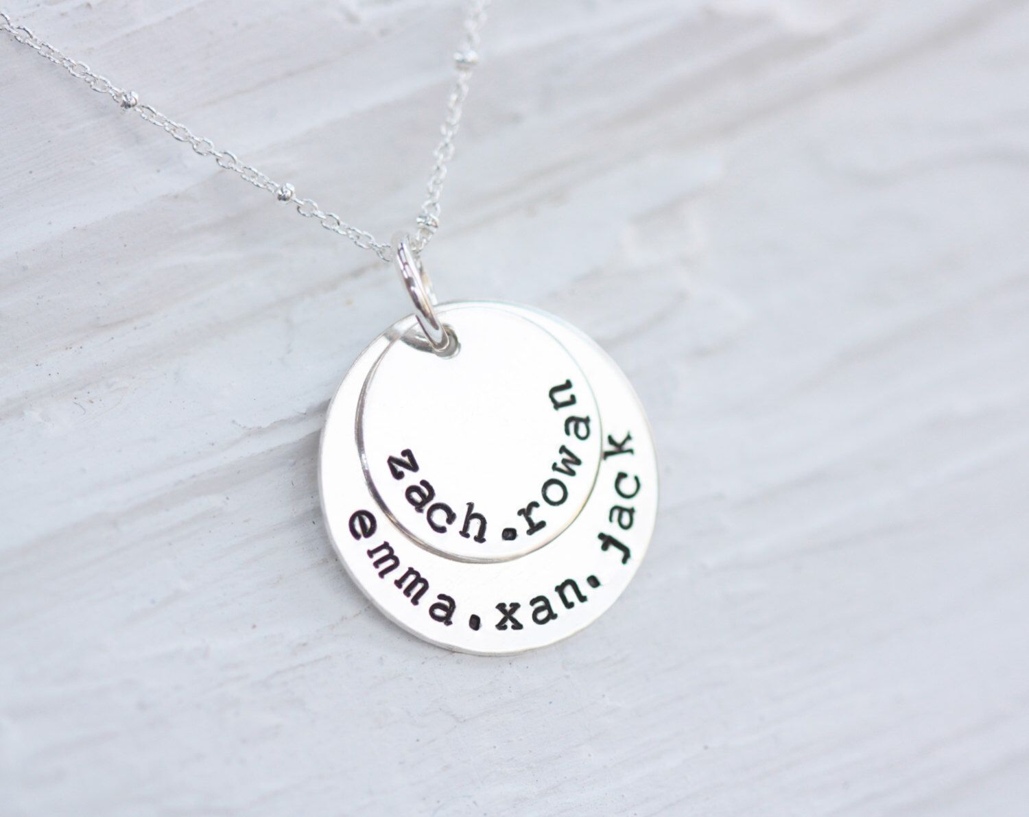 cascade name birthstones with custom products birthstone danique mom and children disk names necklace