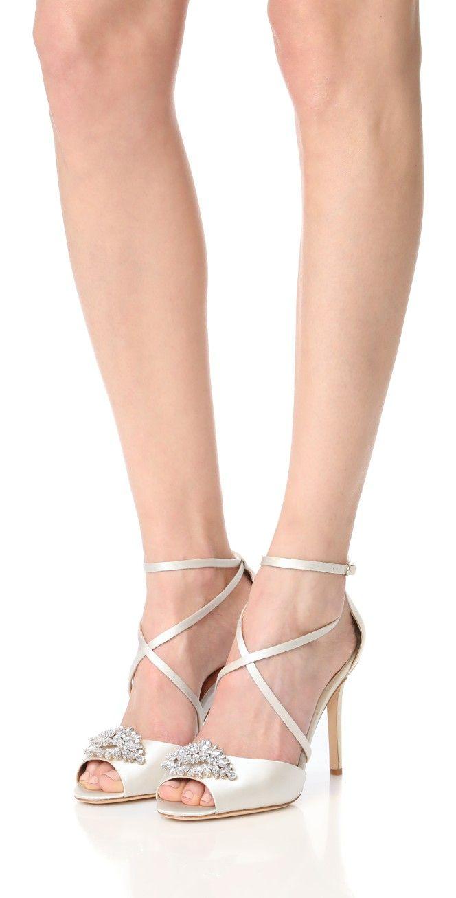 Badgley Mischka Tatum Embellished Strappy Sandal LjMfS