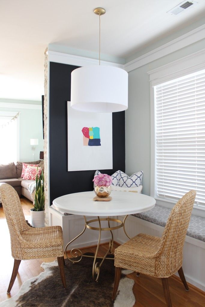 Cafe Style Dining Room Reveal - pier 1 chairs, DIY dining table ...