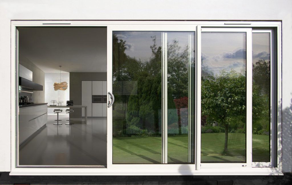 White Exterior Sliding Doors With Screen Sliding Glass Doors Patio Aluminium Sliding Doors Sliding Patio Doors