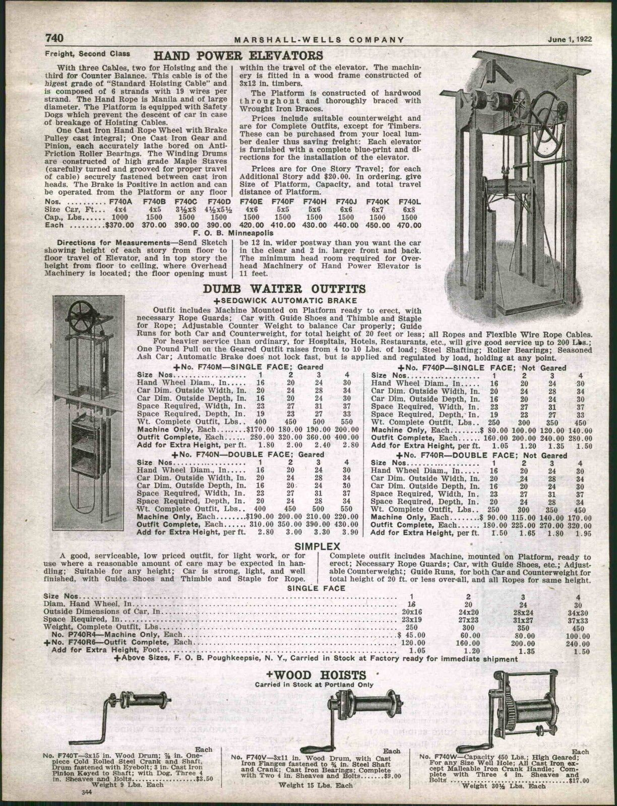 1925 Ad Hand Power Elevator Dumb Waiter Sedgwick Dumbwaiter Wiring Diagram Ebay