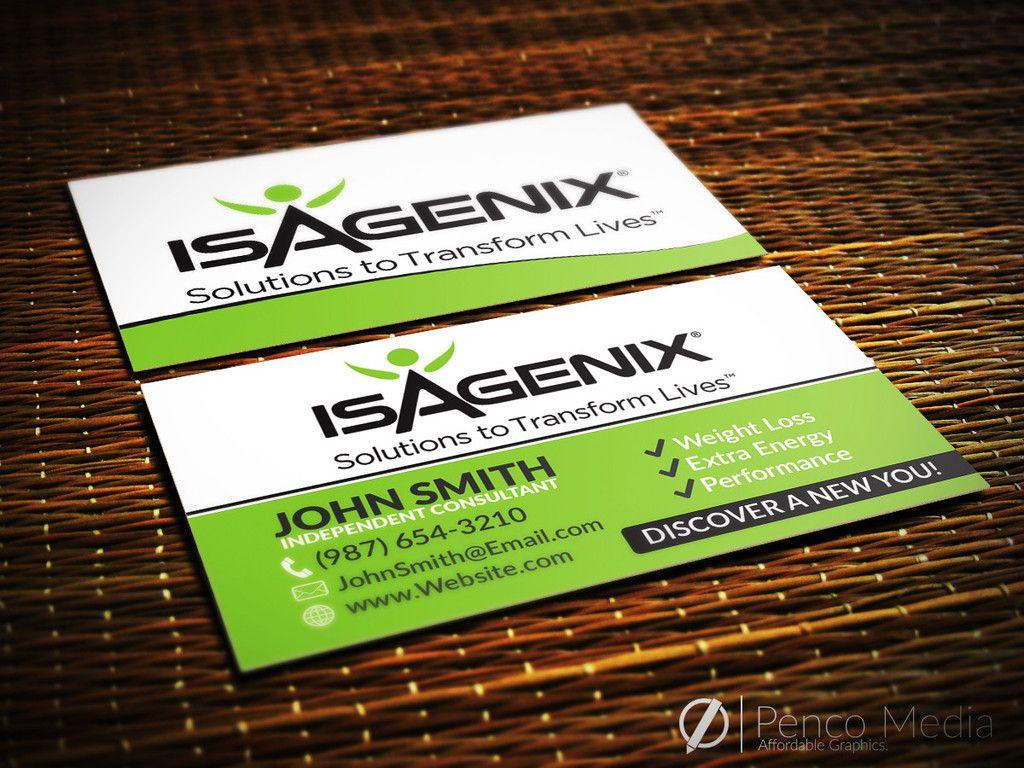 Custom Isagenix Business Card Design #2 #isagenix #businesscards ...