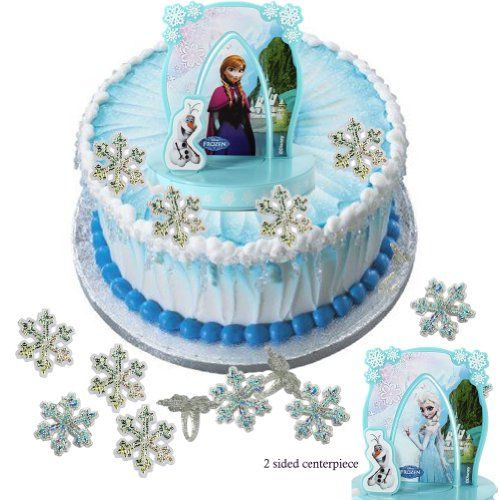 Elsa Anna Olaf Disney Frozen Cake Topper Snowflake Rings