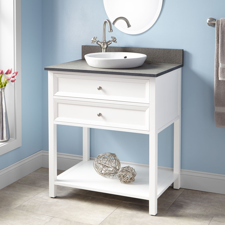 30 Wynne Vanity For Semi Recessed Sink White Bathroom