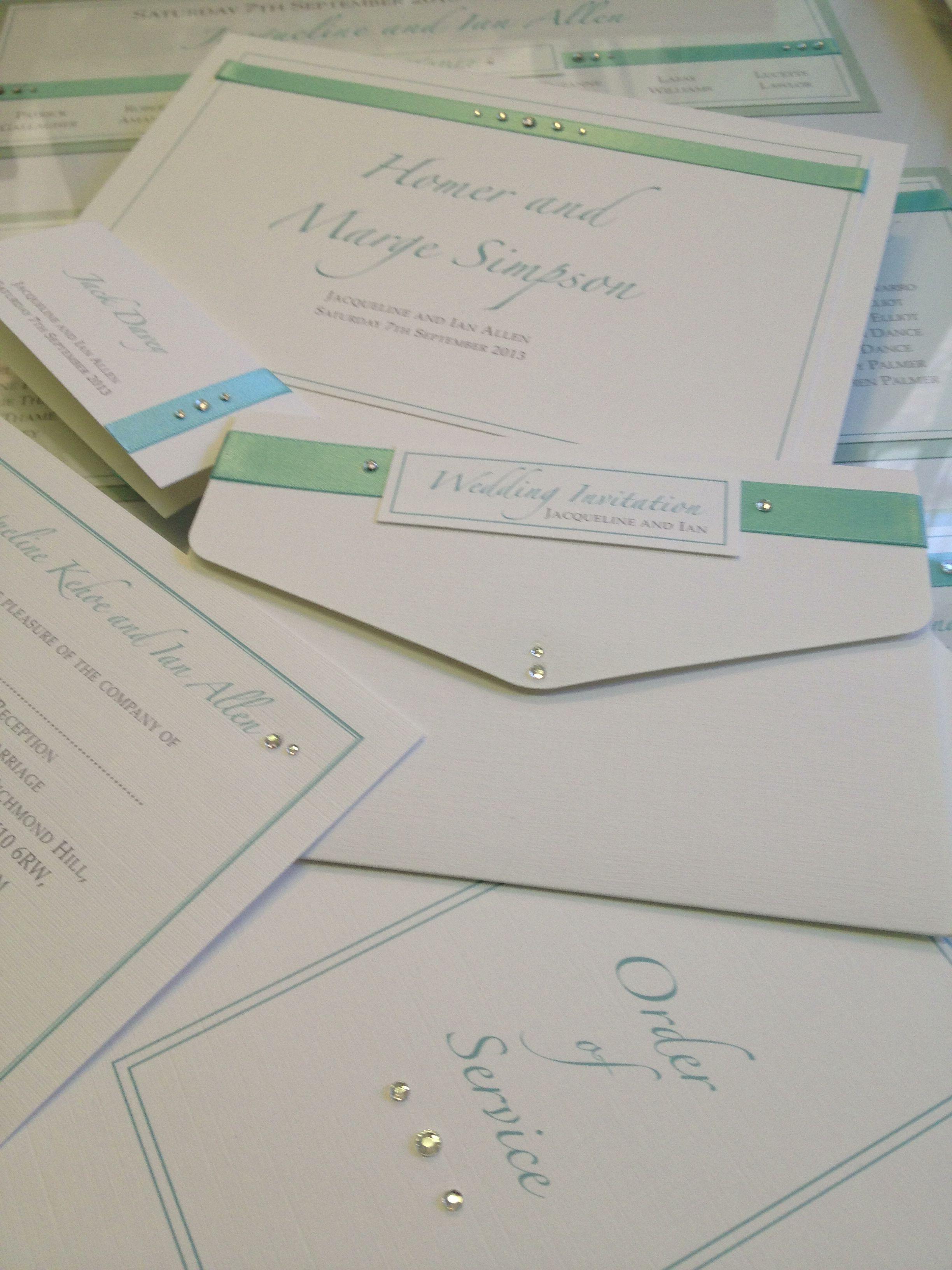 Tiffany blue. The best co-ordinated luxury handmade bespoke wedding ...