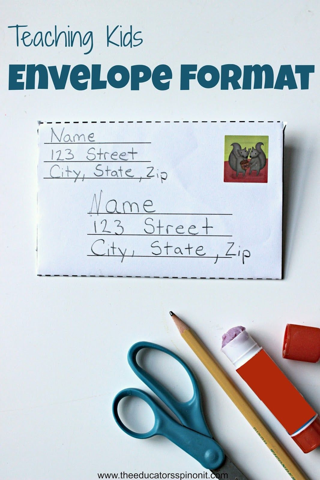 How To Write An Envelope Letter.Teaching Kids About Envelope Format Letters For Kids