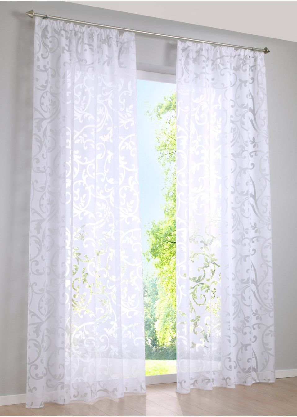 voilage reno 1 pce voilages tringle et rail. Black Bedroom Furniture Sets. Home Design Ideas