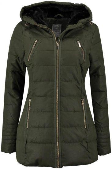 Geisha Jas Lang Groen   Coats Jackets Parkas Bodywarmers