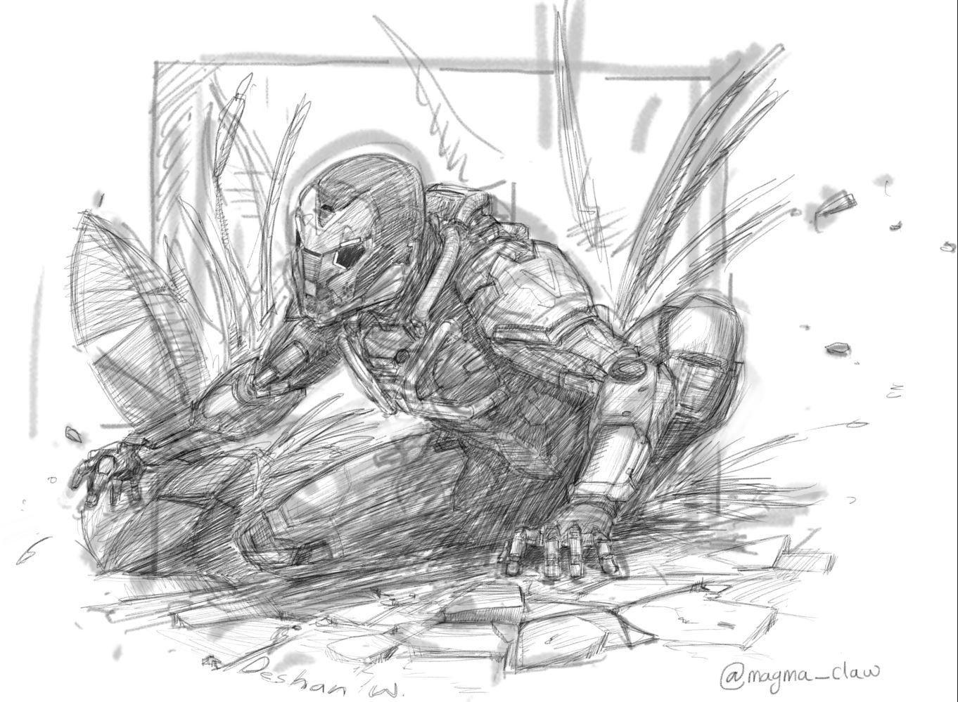 Anthem The Game Javelin Ranger Sketch Ifttt 2zoOmI6
