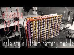 Tesla Style Lithium Battery Module 2 Esamba Ep 34 Battery Tesla Tesla Battery