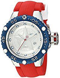 Invicta Marvel Reloj de hombre automático correa de silicona color rojo  26001 Reloj hombre  relojpulsera 680acc56b65d