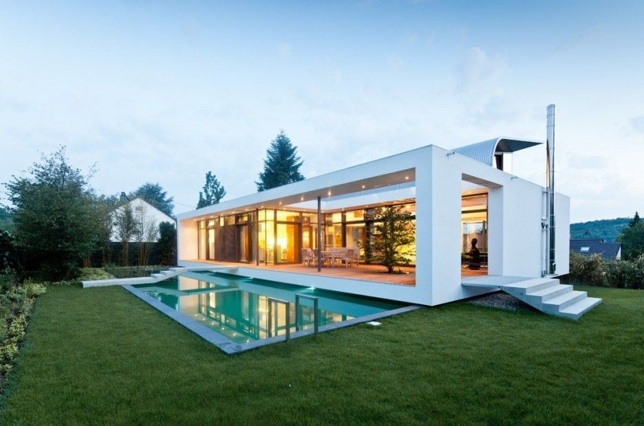 Elegant Contemporary House in Germany Sensational C1 House Design