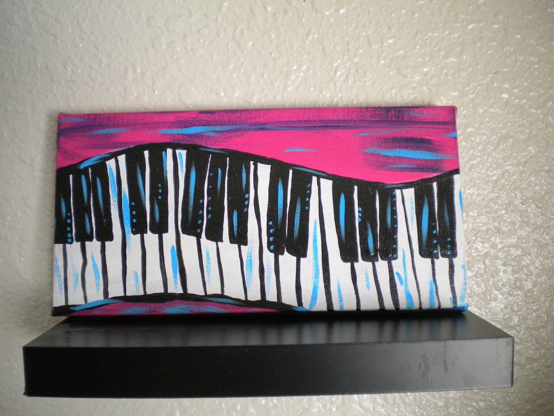 Piano Keys Painting- Keyboard- Abstract Original Acrylic Painting