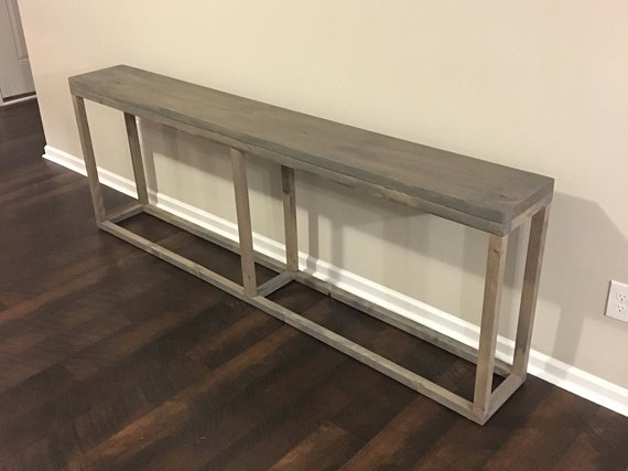 Finding That Perfect Console Table To Fit Your Space Can Seem Like An Impossible Task Theyre All Too Short T Behind Sofa Table Narrow Console Table Furniture