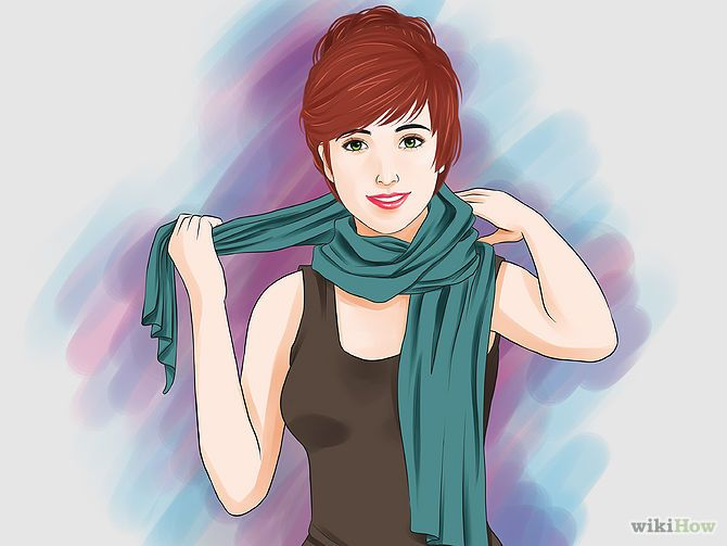 10 Ways to Tie a Scarf Around the Neck - wikiHow