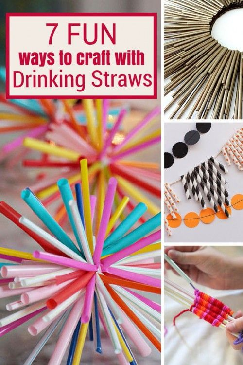 7 Fun Ways To Craft With Drinking Straws Straw Crafts Diy Straw