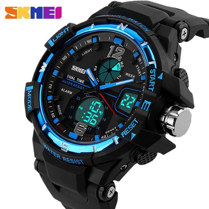 SKMEI G Style Fashion Digital-Watch Mens Sports Watches Army Military Wristwatch Erkek Saat Shock Resist Clock Quartz Watch #sportswatches